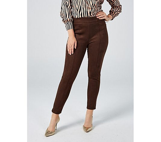 Outlet WULI:LUU by Gok Wan Faux Suede Slim Leg Trousers Petite Length