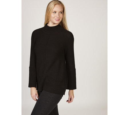 MarlaWynne Textured Pullover Turtle Neck Sweater