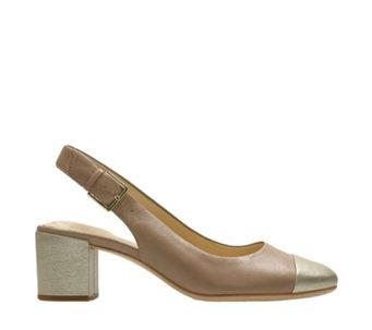 9d2458f56 Clarks Orabella Meg Sling Back Court Shoe Standard Fit - 170898
