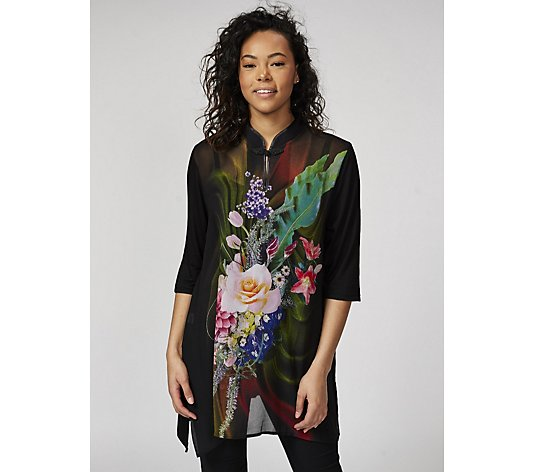Butler & Wilson Chinese Neck Flower & Leaf Top