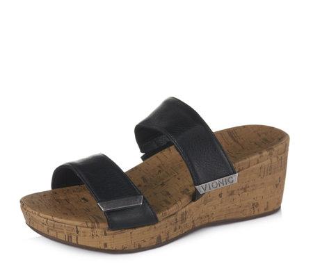 great look 50% price run shoes Vionic Orthotic Atlantic Pepper Wedge Slip On Sandal w/ FMT ...