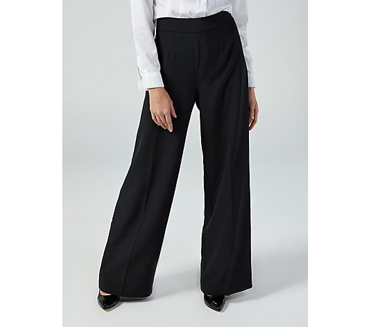 Ruth Langsford Classic Flat Front Wide Leg Trousers Petite
