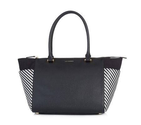 Lulu Guinness Medium Becca Grainy Leather Tote Bag
