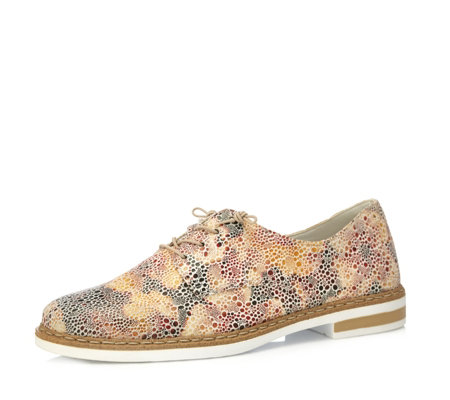 Rieker Multi Printed Lace Up Brogues