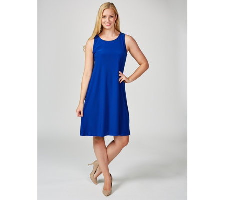 Coco Bianco Sleeveless Tie Back Shift Dress