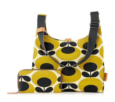 Orla Kiely Midi Sling Bag & Large Wallet Set