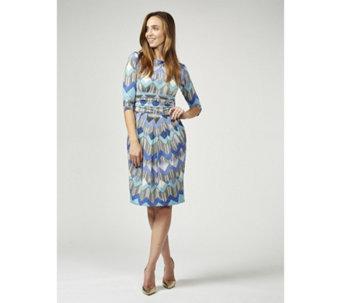 5631bcd9ad3 Sydney 3 4 Sleeve Printed Dress by Onjenu London - 176999