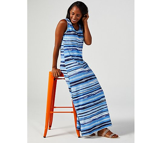 Denim & Co. Perfect Jersey Scoop Neck Sleeveless Maxi Dress