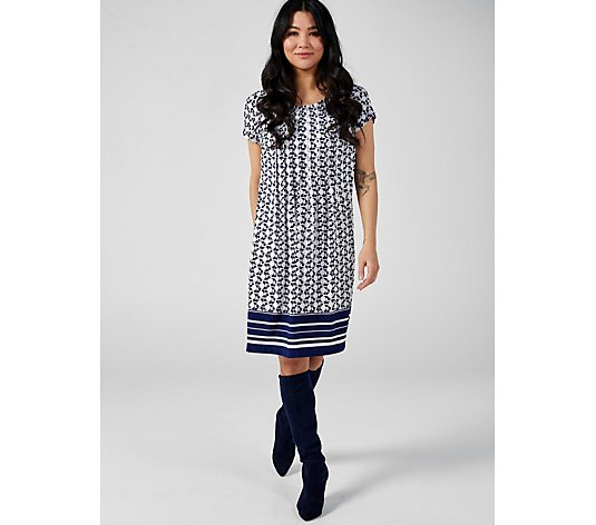 Perceptions Short Sleeve Printed Dress