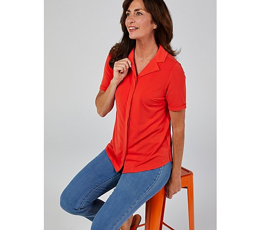 Ruth Langsford Short Sleeve Revere Collar Shirt