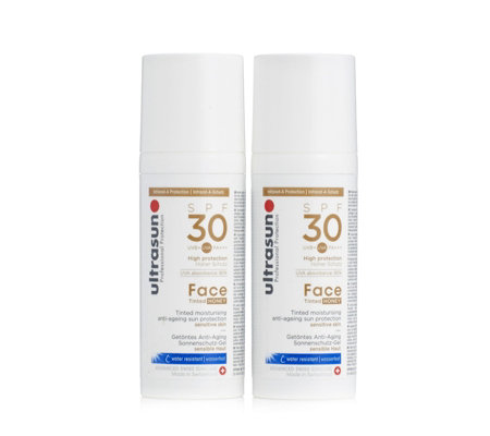 Ultrasun Sun Protection Tinted Face SPF 30 50ml Duo