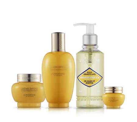 L'Occitane 4 Piece Immortelle Divine Skincare Collection
