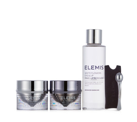 Elemis Ultra-Smart Pro-Collagen Eye Treatment Duo & White Flowers