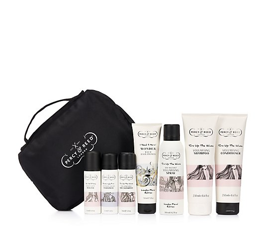 Percy & Reed 7 Piece Gift Of Great Hair Collection & Bag