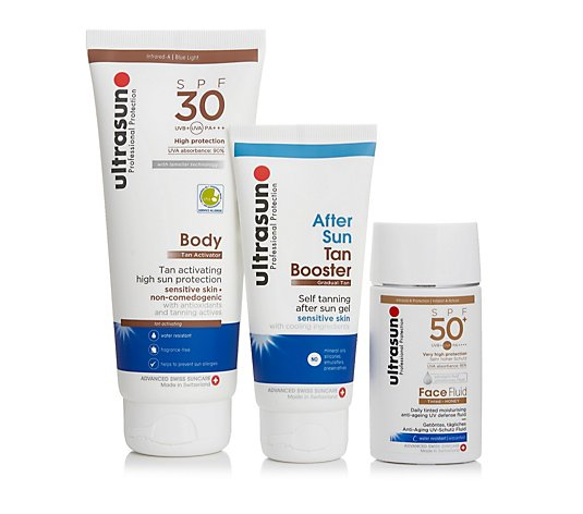 Ultrasun Sun Protection 3 Piece Tinted Glow Collection