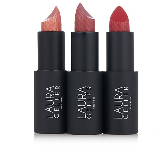 Laura Geller 3 Piece Iconic Baked Sculpting Lipstick Collection