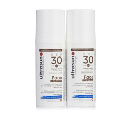 Ultrasun Sun Protection Face Tan Activator SPF 30 50ml Duo