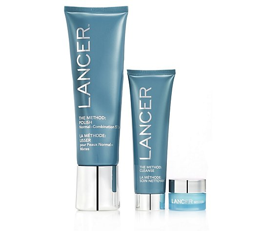 Lancer Skincare The Method Polish & Glow 3 Step Anti-Ageing Collection