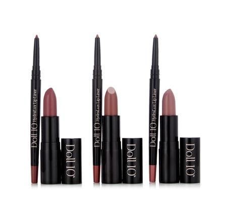 Doll10 6 Piece Be In The Moment Lip & Liner Collection