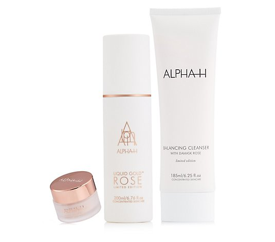 Alpha-H 3 Piece Rose Gold Complexion Renewal Collection