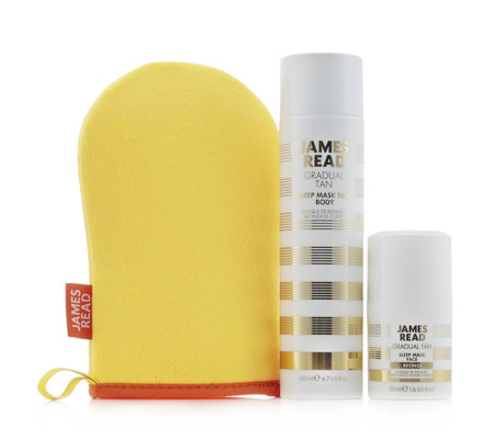 James Read 3 Piece Sleep Mask Tan With Retinol