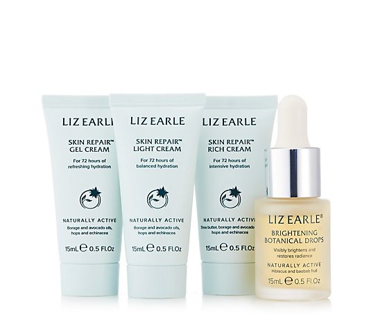 Liz Earle Brightening Botanical Drop with 15ml Skin Repair Trio