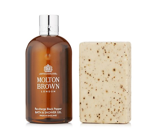 Molton Brown Men's Black Peppercorn Body Wash & Scrub Bar