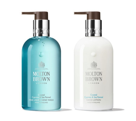 Molton Brown Coastal Cypress & Sea Fennel Adventurous 300ml Hand Care Duo