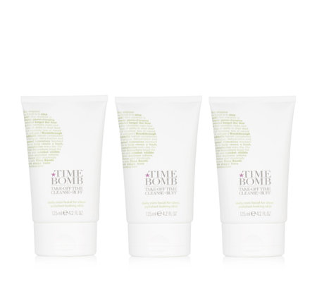 Lulu's Time Bomb Take Off Time Cleanser Trio 125ml