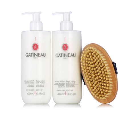 Gatineau AHA Body Lotion Duo 400ml & Body Brush