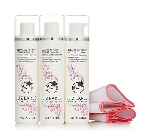 Liz Earle Rose & Lavender Cleanse & Polish Trio