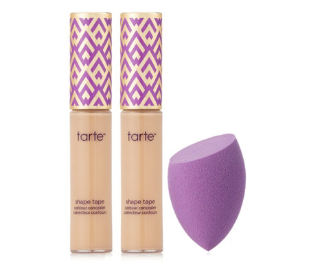 Tarte Shape Tape Contour Concealer Duo With Quickie Blending Sponge