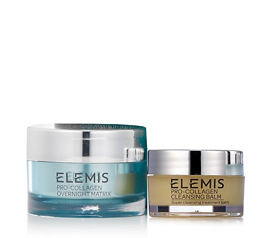 Elemis Pro-Collagen Overnight Matrix & Cleansing Balm 20g Duo