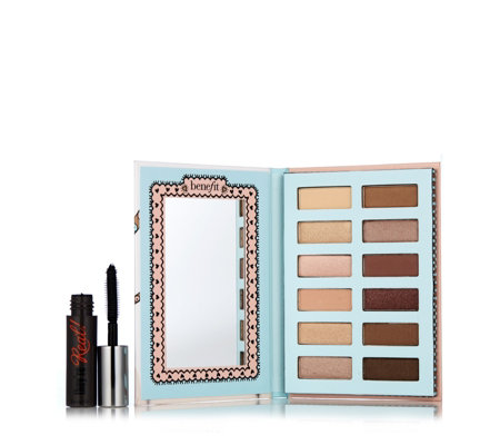 Benefit Vanity Flair Eyeshadow Palette & They're Real Mascara Fun Size