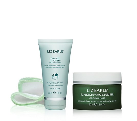 Liz Earle Superskin Moisturiser 50ml With 30ml Cleanse & Polish