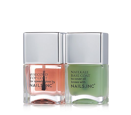 Nails Inc Nailkale Basecoat & Kensington 45 Second Topcoat 14ml