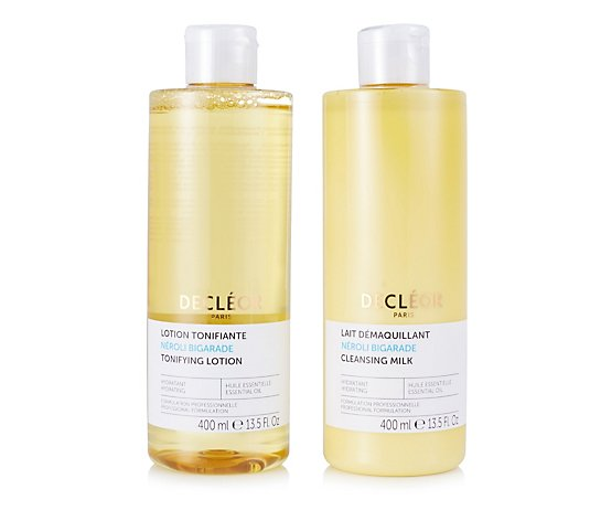 Decleor Neroli Bigarade Supersize Cleansing Milk & Tonifying Lotion 400ml