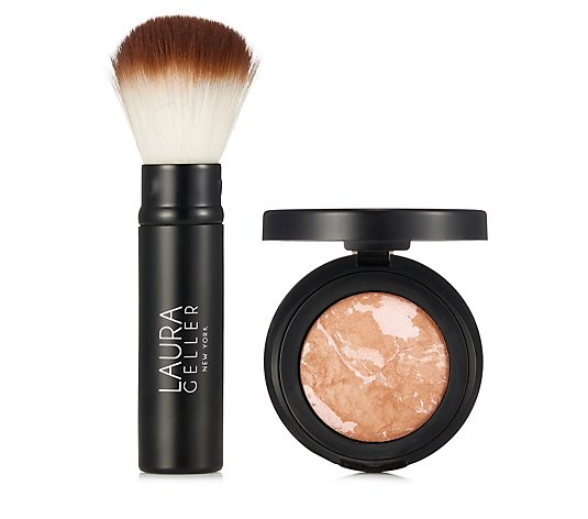 Laura Geller Blush-n-Brighten with Blush Brush