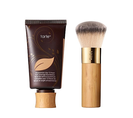 Tarte Amazonian Clay Full Coverage Foundation 50ml with Brush