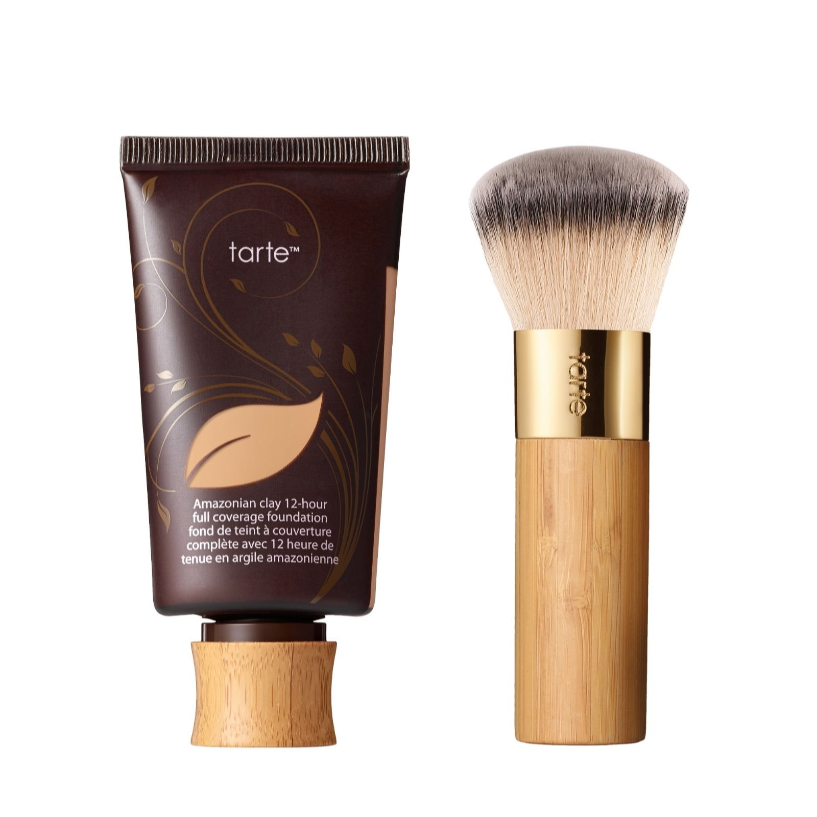 Tarte Amazonian Clay Full Coverage Foundation 50ml With Brush Qvc Uk
