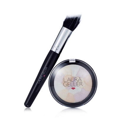 Laura Geller Filter Finish Baked Radiance Setting Powder 7g & Brush