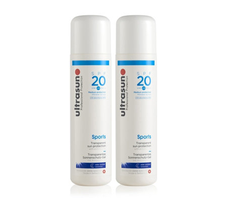 Ultrasun Sun Protection Sports Gel SPF 20 200ml Duo