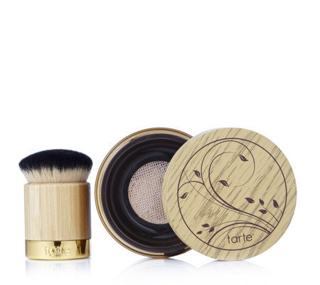 Tarte Amazonian Clay Full Cover Airbrush Powder Foundation & Brush