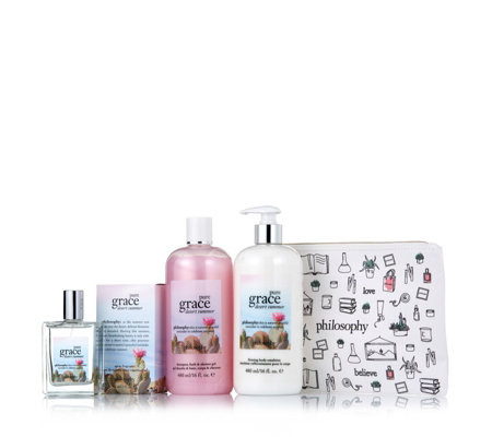 Philosophy 3 Piece Pure Grace Desert Summer Fragrance Collection