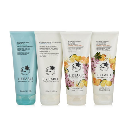 Liz Earle 4 Piece Ultimate Botanical Shine Haircare Collection