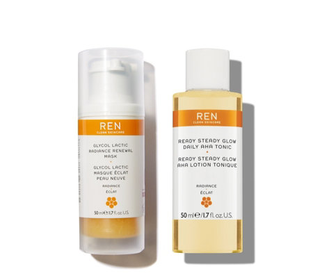 Ren Clean Skincare Get Set To Glow Travel Duo