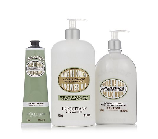 L'Occitane 3 Piece Almond Supersize Collection