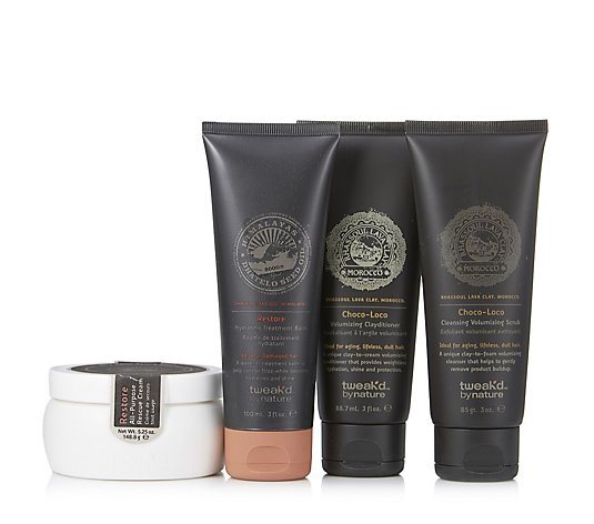 Tweak'd 4 Piece Choco-Loco Volumising & Hydrating Collection