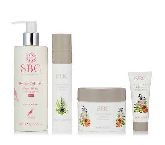 SBC 4 Piece Hydra Collagen & Green Caviar Cleanse & Hydrate Collection