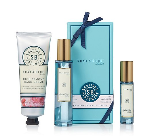 Shay & Blue English Cherry Blossom Fragrance Trio